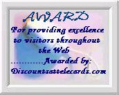 Award for LittleAriel.com from DiscountsAtTelecards